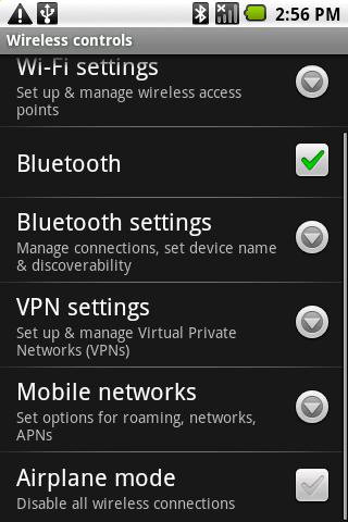 Accès aux réglages du VPN