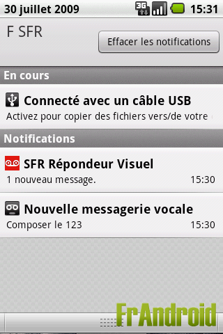 Zone de notification