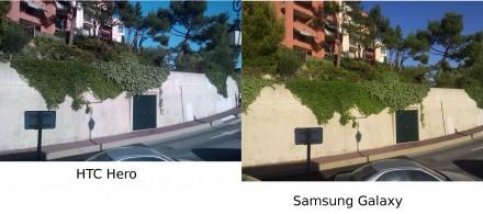 Comparatif photo Galaxy / Hero