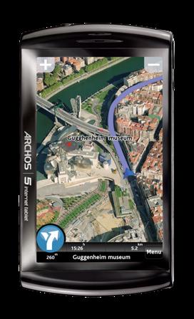 ARCHOS 5 Internet Tablet_GPS 3D_Realistic_vignette