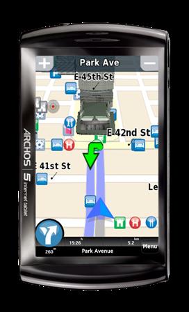 ARCHOS 5 Internet Tablet_GPS - POI_vignette