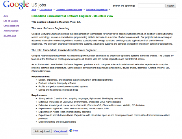Job Google TV