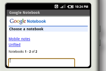 google notebook sur android